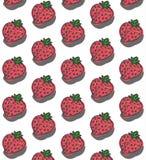 美好的草莓样式 免版税库存照片