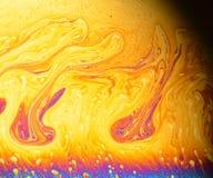 美好的荧光的抽象-在皂膜的干涉在反射光 图库摄影