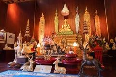 美好的菩萨图象在Luang唱Kaew博物馆的洪,城镇 库存图片