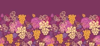 美好的葡萄树水平的无缝的样式 库存照片