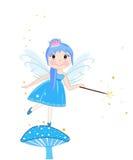 美好的蓝色神仙的女孩传染媒介 免版税库存照片