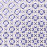 美好的蓝色重复在轻的米黄背景的六角形和圈子样式 向量例证