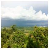 美好的蓝色黄昏天空夏天泰国 免版税库存图片