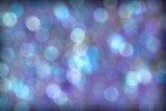 美好的蓝色紫色水色Bokeh背景 免版税库存图片