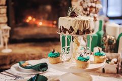 美好的蛋糕婚礼 库存图片