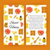 美好的蜂蜜飞行物小册子模板 免版税图库摄影