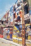 美好的街道艺术街道画 在墨西哥的街道的都市当代文化 免版税库存图片