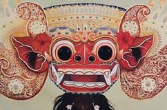 美好的被绘的巴厘语Barong面具 免版税库存照片