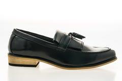 美好的豪华和偶然皮革人鞋子 库存照片