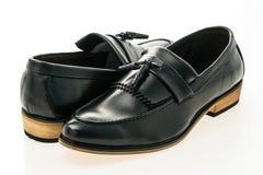美好的豪华和偶然皮革人鞋子 免版税库存照片