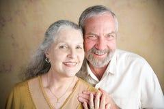 美好的资深夫妇-基督教 免版税图库摄影