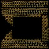 美好的金黄抽象精华背景 库存图片