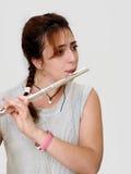 美好的长笛演奏家垂直 免版税库存照片
