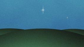 美好的闪烁的星保险开关动画片背景 向量例证