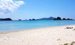 美好的阿马海滩视图, Zamami 免版税库存图片
