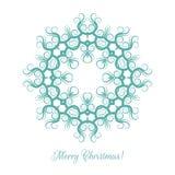 美好的雪花样式 圣诞卡的装饰装饰品 坛场 也corel凹道例证向量 库存例证