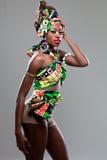 年轻美好的非洲时装模特儿。 库存图片