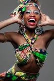 年轻美好的非洲时装模特儿。 库存照片