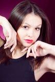 美好的面颊现有量性感的妇女年轻人 库存照片