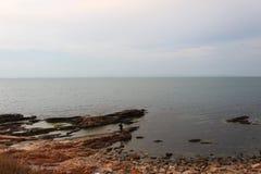 美好的风景向海在保加利亚,黑海 免版税库存图片