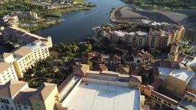美好的风景和修造的鸟瞰图沿湖拉斯维加斯 股票录像