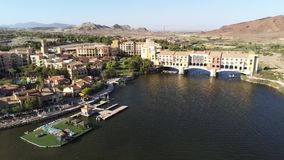 美好的风景和修造的鸟瞰图沿湖拉斯维加斯 影视素材