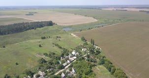 美好的风景和村庄天线有蓝天的 股票视频