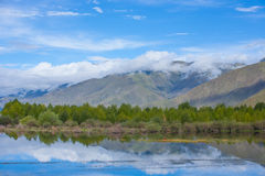 美好的风景在中国的西藏 免版税库存图片