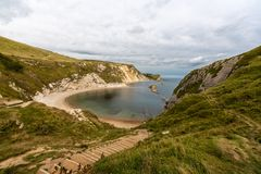 美好的风景在多西特英国 库存图片