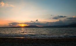 美好的风景在海 免版税库存图片