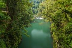 美好的风景在高千穗峡谷在宫崎,九州,日本 库存照片