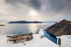 美好的风景有海视图 免版税库存照片