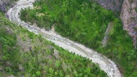 美好的风景概要 在山河的飞行的寄生虫 概略的看法 股票视频