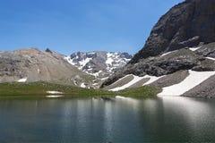 美好的风景湖视图 图库摄影