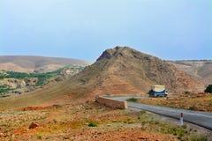 美好的风景,山在摩洛哥 库存图片
