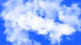 美好的飞行通过与转折的云彩与纯净的白色背景 影视素材