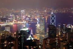美好的香港晚上场面 免版税库存照片