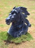美好的马石头雕塑 图库摄影