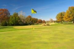 美好的高尔夫球场在秋天(哥伦比亚, MO) 图库摄影