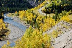 美好的高速公路河形状 免版税库存图片