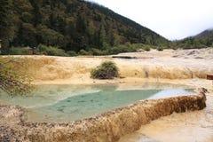 美好的黄龙自然保护在中国的四川 免版税库存图片