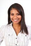 美好的黑色企业女性微笑的妇女 免版税图库摄影