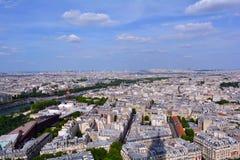 美好的巴黎全景,法国 免版税库存照片