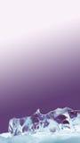 美好的结冰的冰冷的织地不很细表面 装饰透明水晶背景 白色紫罗兰梯度 宏观看法拷贝 免版税库存照片