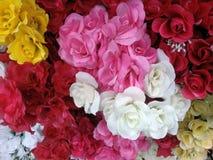 美好的织品玫瑰束Boquets 库存照片