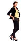 美好的年轻女性时装模特儿 图库摄影