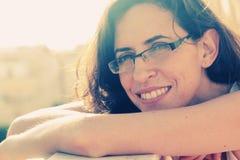 美好的35岁画象妇女 免版税库存图片