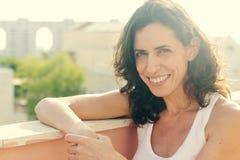 美好的35岁画象妇女 免版税图库摄影