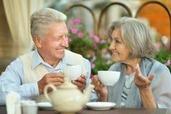 美好的更旧的夫妇 免版税库存照片