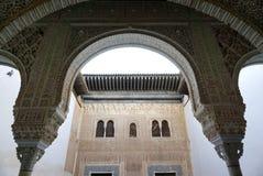 美好的建筑学在阿尔罕布拉宫,格拉纳达,西班牙 图库摄影